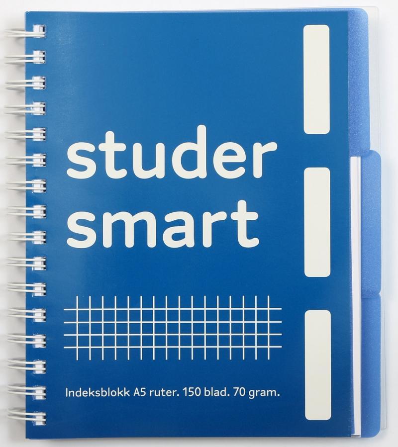 94950cce Notatbok - Studer smart A5, Ruter | Akademika.no