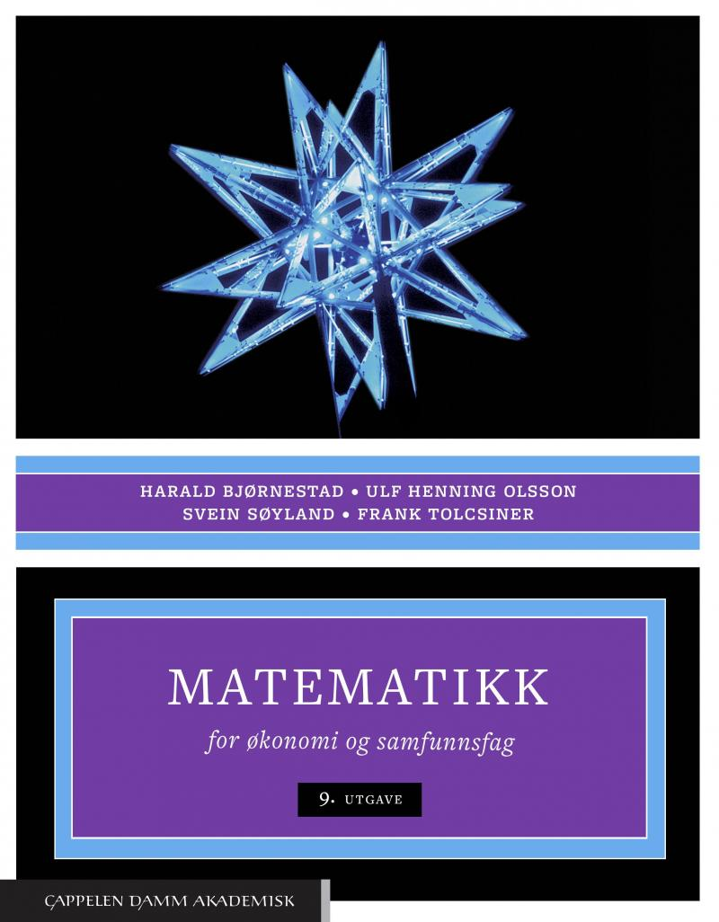 Matematikk for økonomi og samfunnsfag   Akademika no